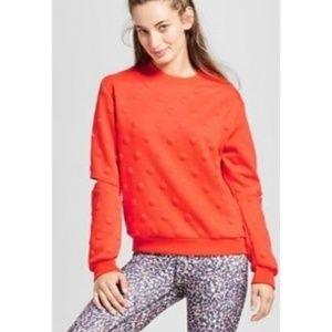 NWT Med Joy Lab Polka Dot Sweater W/Elbow Cutouts